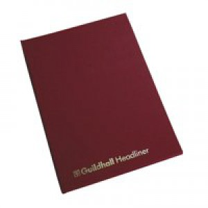 Guildhall Headliner Book 38 Series 8 Cash Column 80 Pages Code 38/8