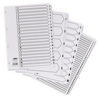 Concord Classic Index Mylar-reinforced Punched 4 Holes 1-5 A4 White Ref 00501/CS5