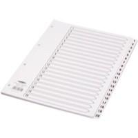 Concord 1-20 Numeric Classic Index A4 White CS7 Mylar Tabs Code 00701
