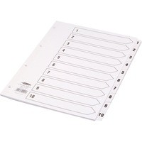 Concord Classic Index Mylar-reinforced Punched 4 Holes 1-10 A4 White Ref 00901/CS9