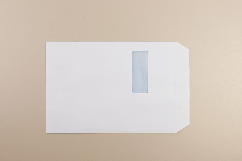 Opportunity White Self Seal Envelope C4 324mmx229mm Heavy Weight Window Boxed 250