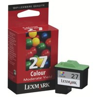 Lexmark No. 27 Inkjet Cartridge Page Life 140pp Colour Ref 10NX227E
