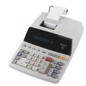 Sharp Calculator Printing Mains-power 12 Digit 3.0 Lines/sec 222x327x78mm Ref EL2607PGY