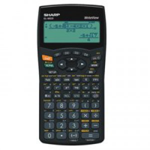Sharp WriteView Calculator Scientific Battery-power 4-line 335 Functions 2-key Rollover