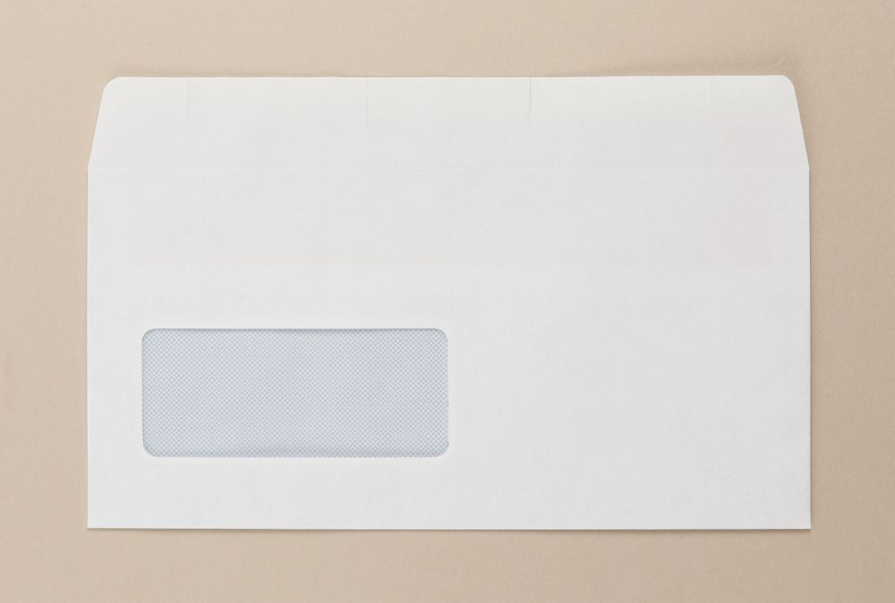 Opportunity White Self Seal Envelope DL 110mmx220mm Light Weight Window Boxed 1000s