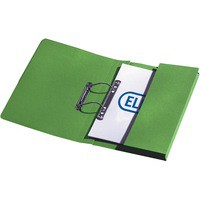 Elba Stratford Transfer Spring File with Pocket Recycled 315gsm 32mm Foolscap Green