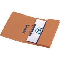 Elba Stratford Transfer Spring File with Pocket Recycled 315gsm 32mm Foolscap Orange
