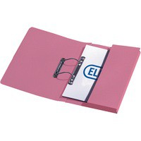 Elba Stratford Transfer Spring File with Pocket Recycled 315gsm 32mm Foolscap Pink