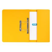 Elba Stratford Transfer Spring File with Pocket Recycled 315gsm 32mm Foolscap Yellow