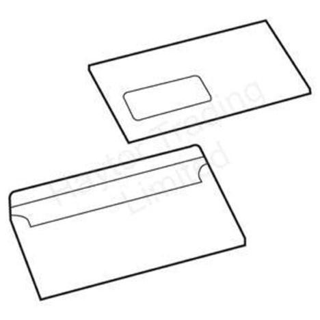 White Box Envelope White Press Seal Window Wallet DL 90gsm [Pack 1000]