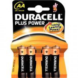 Duracell Plus Power Battery Size AA Pk4