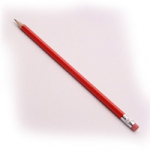 White Box Pencils Rubber Tip Red HB Ref 93761 [Pack 12]