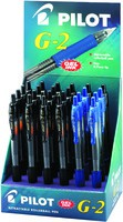 Pilot G-2 Gel Rollerball Pen 24-piece Display Assorted Black and Blue 041502400