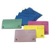 Elba Tabbed Folders Recycled Lightweight 180gsm Set of 5 Foolscap Blue Ref 100090119 [Pack 20]
