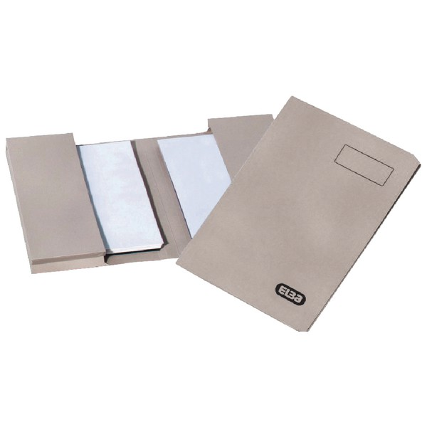 Elba Twin Pocket Document Wallet 250gsm Capacity 2x28mm Foolscap Buff Ref 100090133 [Pack 25]