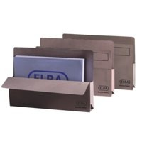 Elba Open Top Wallet Large Gussetted Capacity 30mm Foolscap Buff Ref 100090137 [Pack 50]