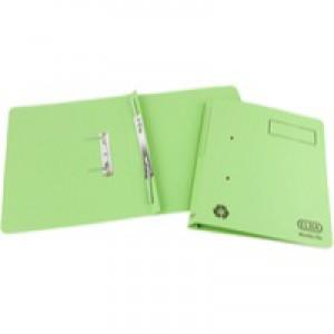 Elba Spirosort Transfer Spring File Recycled 315gsm 35mm Foolscap Green Ref 100090160 [Pack 25]