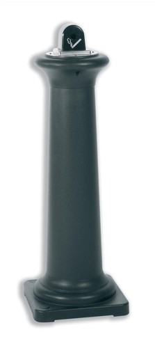 Rubbermaid Ash Bin Free-standing Weather-resistant 311x311x1001mm Black Code 9W30-00-BLA