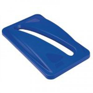 Rubbermaid Blue paper Lid Blue Top Slotted for paper