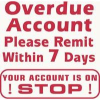 Artline X-Stamper 3-in-1 Word Stamp Overdue Account/Please Remit/Your Account is on Stop WS8526