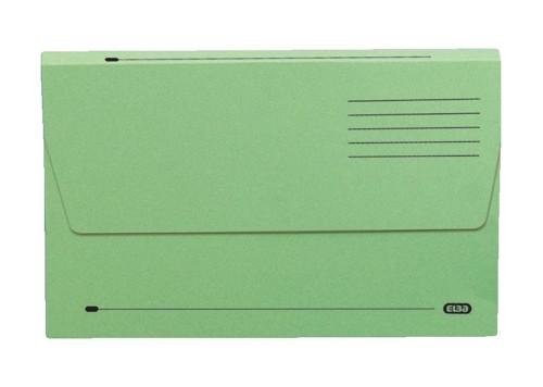 Elba Document Wallet Half Flap 285gsm Capacity 32mm Foolscap Green Ref 100090127 [Pack 50]