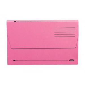 Elba Document Wallet Half Flap 285gsm Capacity 32mm Foolscap Pink Ref 100090242 [Pack 50]