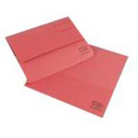 Elba Document Wallet Half Flap 285gsm Capacity 32mm Foolscap Red Ref 100090243 [Pack 50]