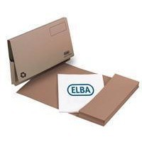 Elba Document Wallet Full Flap 285gsm Capacity 32mm Foolscap Buff Ref 100090130 [Pack 50]