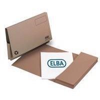 Elba Document Wallet Full Flap 285gsm Capacity 32mm Foolscap Buff