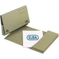Elba Document Wallet Full Flap 285gsm Capacity 32mm Foolscap Green Ref 100090254 [Pack 50]
