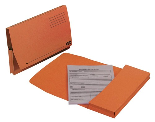 Elba Document Wallet Full Flap 310gsm Foolscap Orange Ref 100090255 [Pack 50]