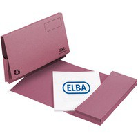 Elba Document Wallet Full Flap 285gsm Capacity 32mm Foolscap Pink Ref 100090256 [Pack 50]