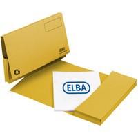 Elba Document Wallet Full Flap 285gsm Capacity 32mm Foolscap Yellow Ref 100090258 [Pack 50]