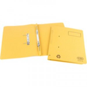 Elba Spirosort Transfer Spring File Recycled 315gsm 35mm Foolscap Yellow Ref 100090163 [Pack 25]