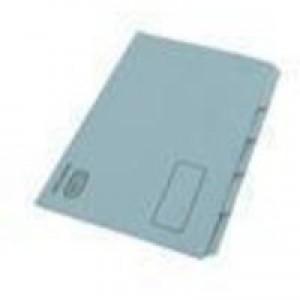 Elba Tabbed Folders Recycled Heavyweight 285gsm Set of 5 Foolscap Blue Ref 100090234 [Pack 20]