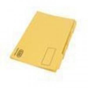 Elba Tabbed Folder Recycled Heavyweight 290gsm Foolscap Yellow