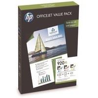 Hewlett Packard [HP] No. 920XL Officejet Value Pack Colour Inkjet Cartridge and A4 Matt Paper Ref CH081AE