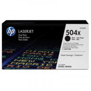 HP No.504X Laser Toner Cartridge Black Pack 2 Code CE250XD