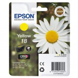 Epson 18 Daisy Claria Home Ink Yellow T1804