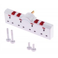 Image for 4 Way Switched Neon Gang Surge Protector