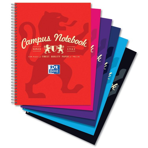 Campus Project Book Laminated Card Cover Wirebound 140 Pages 4 Hole 90gsm A4Plus Ref 400013920