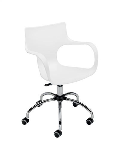 Sonix Ariel SoHo Chair Swivel Seat W400xD380xH440-550mm White
