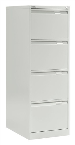 Bisley BS4E Filing Cabinet 4-Drawer H1321mm White Ref
