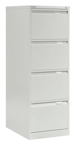 Bisley BS4E Filing Cabinet Flush Front 4 Drawer White
