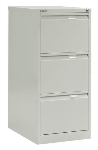 Bisley BS3E Filing Cabinet Flush Front 3 Drawer White