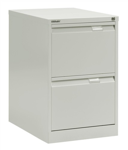 Bisley BS2E Filing Cabinet Flush-front 2-Drawer W470xD622xH711mm White