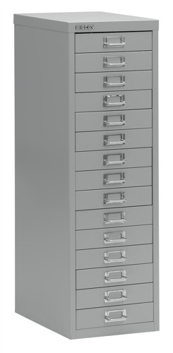 Bisley SoHo Multidrawer Cabinet 15-Drawer H860mm Grey Ref