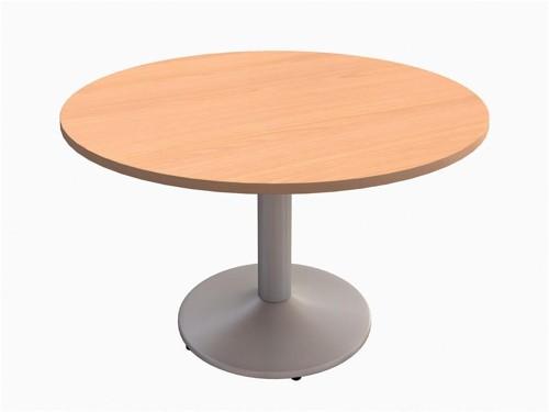 Trexus Boardroom Table Round Pillar Legs Dia1200xH725mm Beech