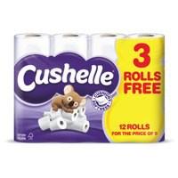 Cushelle Toilet Rolls 2-Ply White Ref VSCACTR12 [Pack 12]
