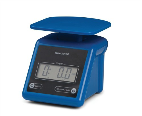 Salter Brecknell PS7 3.2kg Electronic Postal Scale Blue Code 816965005260